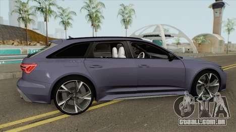 Audi RS6 2020 para GTA San Andreas