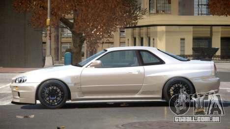 Nissan Skyline R34 GTR ST para GTA 4