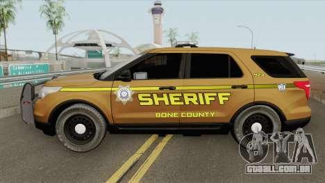Ford Explorer 2012 (Bone County Sheriff) para GTA San Andreas