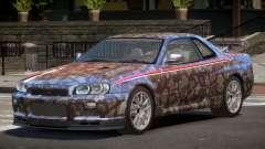 Nissan Skyline GT-R R34 Qz PJ3 para GTA 4