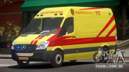 Mercedes Benz Sprinter Ambulance para GTA 4