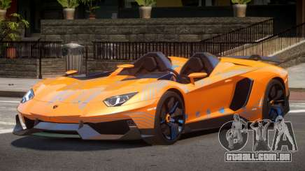 Lamborghini Aventador Spider SR PJ4 para GTA 4