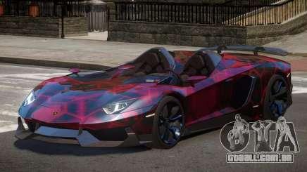 Lamborghini Aventador Spider SR PJ3 para GTA 4