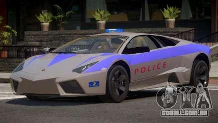 Lamborghini Reventon Police para GTA 4
