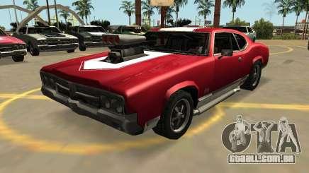 Declasse Sabre GT-Turbo (VehFuncs-Emblemas-Extras) para GTA San Andreas