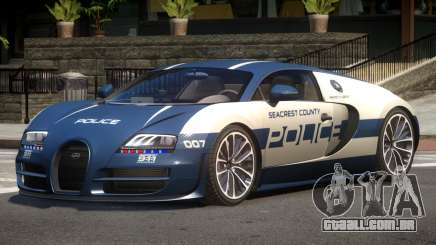 Bugatti Veryon Police V1.0 para GTA 4