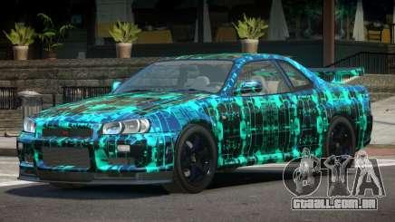 Nissan Skyline R34 E-Style PJ2 para GTA 4