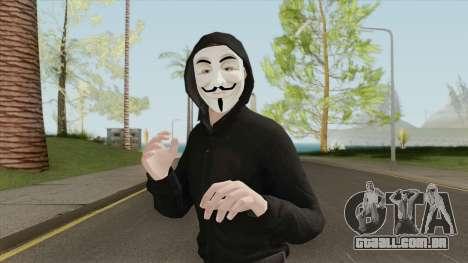 Anonymous Skin (2020) para GTA San Andreas