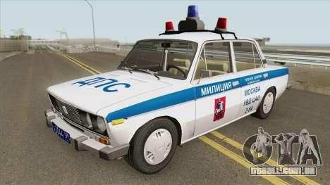 VAZ 2106 DPS (Polícia de Moscou) para GTA San Andreas