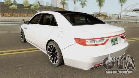 Lincoln Continental (Black Label) 2019 para GTA San Andreas
