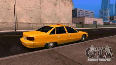 Chevrolet Caprice 1993 Táxi SA Estilo para GTA San Andreas