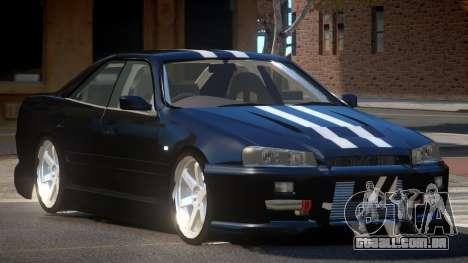 Nissan Skyline R34 SRS para GTA 4