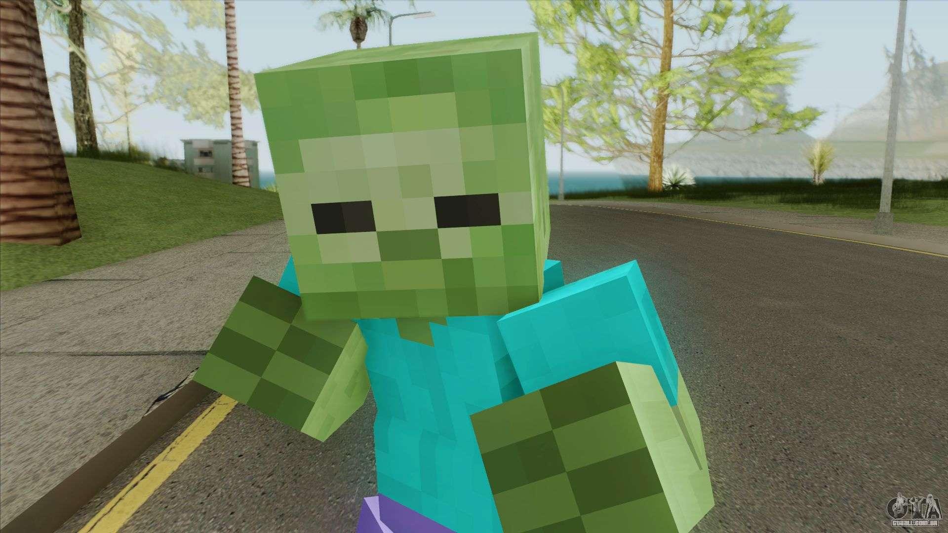Zombie (Minecraft) para GTA San Andreas