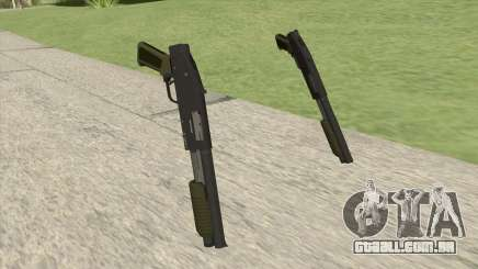 Sawed-Off Shotgun GTA V (Green) para GTA San Andreas
