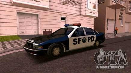 Chevrolet Caprice 1993 SFPD SA Estilo para GTA San Andreas