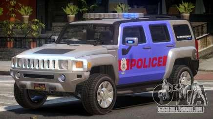 Hummer H3 Police V1.0 para GTA 4