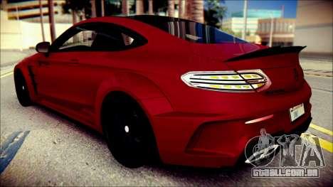 Mercedes-Benz C63 Coupe AMG Prior Design para GTA San Andreas