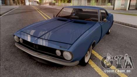 Chevrolet Camaro 1967 Blue para GTA San Andreas