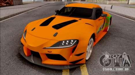 Toyota Supra A90 Fast & Furious para GTA San Andreas
