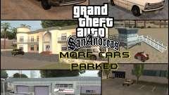 Mais carros estacionados ao redor de San Andreas Estado para GTA San Andreas