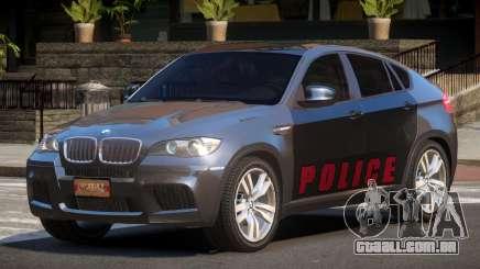 BMW X6M GL Police para GTA 4