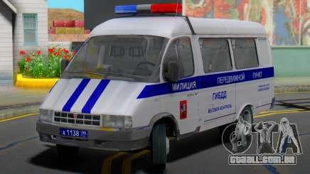 Gazela 32213 Móvel, estação de polícia de trânsito para GTA San Andreas