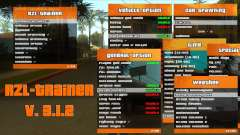 RZL-Trainer v3.1.2 - menu de trapaça como GTA 5 para GTA San Andreas