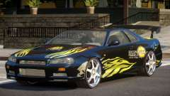 Nissan Skyline R34 BS PJ1 para GTA 4
