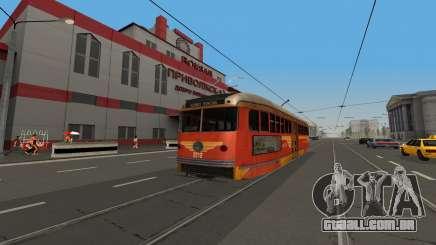 Um PCC de eléctrico, o jogo LA Noire para GTA San Andreas