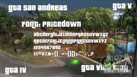 Pricedown - Fonte do logotipo GTA para GTA San Andreas