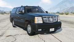 Cadillac Escalade ESV (GMT800) Unmarked [ELS] para GTA 5