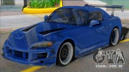 HONDA S2000 Blue with Spoiler para GTA San Andreas