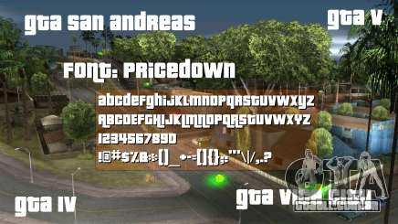 Pricedown - Fonte do logotipo GTA para GTA San Andreas