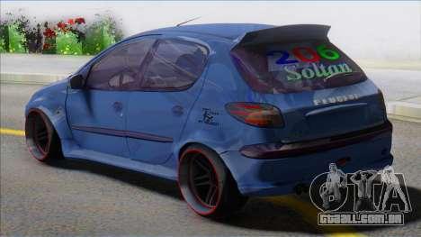 Peugeot 206 Sport Soltan para GTA San Andreas