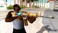 M4A1 Assault Rifle Skin 2 para GTA San Andreas