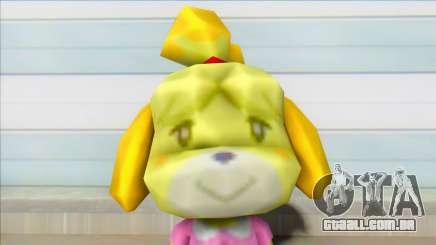 Animal Crossing Isabelle Informal Clothes Skin para GTA San Andreas