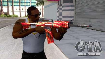 M4A1 Assault Rifle Skin 6 para GTA San Andreas