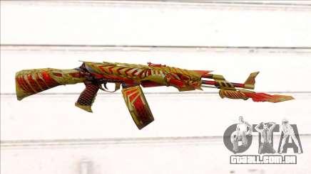 CFMs AK47 HeiWuShi Gold para GTA San Andreas