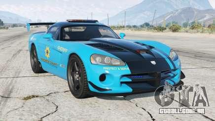 Dodge Viper SRT-10 ACR Hot Pursuit Policᶒ para GTA 5