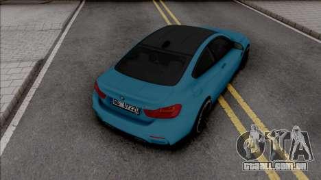 BMW M4 F82 2018 Blue para GTA San Andreas