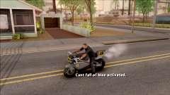 Can Not Fall Off The Bike para GTA San Andreas