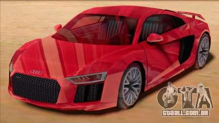 Audi R8 2017 Stock para GTA San Andreas