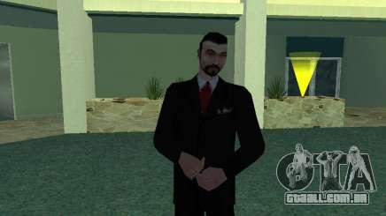 Mafboss de Terno Preto para GTA San Andreas