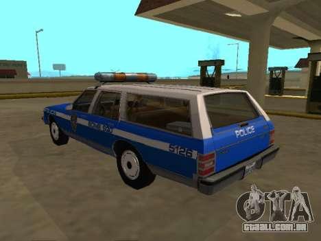 Chevrolet Caprice 1987 SW New York Police Dept para GTA San Andreas