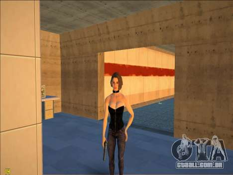 Jill Valentine Sexy Corset para GTA San Andreas