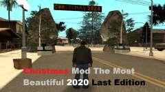 Natal Mod The Most Beautiful 2020 LE para GTA San Andreas