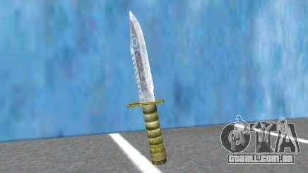 Combat Knife RE2R And RE3R para GTA San Andreas