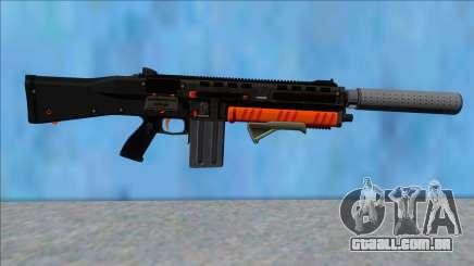 GTA V Vom Feuer Assault Shotgun Orange V4 para GTA San Andreas