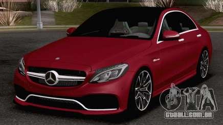 Mercedes-Benz C63S AMG V8 Biturbo para GTA San Andreas