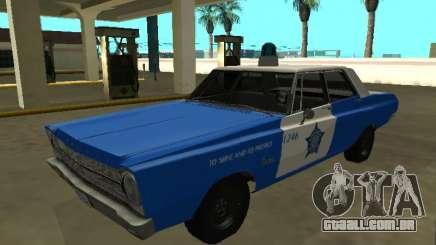 Plymouth Belvedere 4 door 1965 Chicago Police De para GTA San Andreas